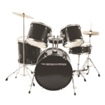 DrumFire Junior Drum Kit - Black