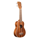 Kala Satin Mahogany Soprano Ukulele with Binding