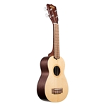 Kala Satin Mahogany Soprano Ukulele with Spruce Top